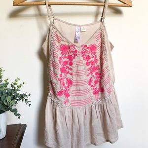 Camisole Top - Floral Detail